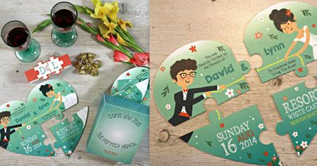 Cute 15+ Jigsaw Puzzle Wedding Card Ideas That Are Way Too Cute To Handle!