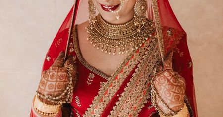 Minimalistic Delhi Wedding With A Bride In Resplendent Red!
