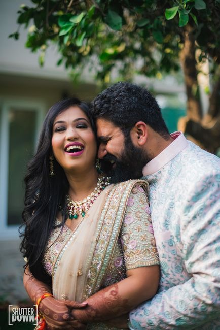 Stunning Delhi Wedding Of A Popular Photographer And His Bride In A Pastel-Hued Lehenga!