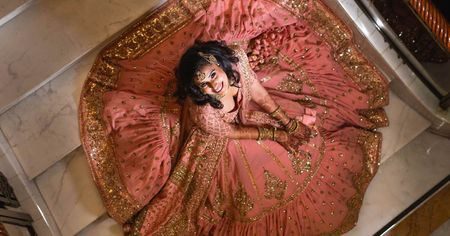 Stunning & Glamorous Delhi Engagement With A Bride In Pretty Pink!
