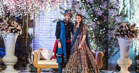 Pretty Aamby Valley Wedding With Spectacular Views & A Bride In Deep Blue!