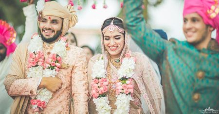 Sunset Hues & Happy Pastels At This Destination Goa Wedding!