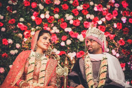 An Elegant Delhi Wedding With A Bride In A Stunning Coral Lehenga