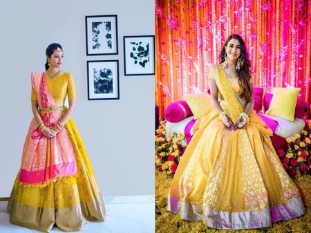 The Prettiest Yellow Lehengas We Spotted For You To Consider For Your Haldi!