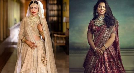 The Most Offbeat & Unique Sabyasachi Lehenga Colours That We Spotted On Real Brides Off Late!