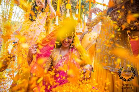 The Coolest, Yellowest Haldi Photographs We Spotted!