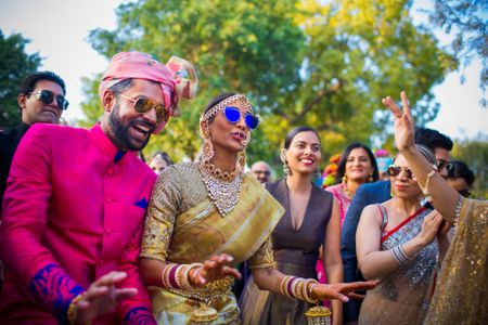 A Grand Delhi Wedding With A Fusion Bride Who Entered With Her Own Baraat!