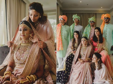 An Elegant Jaipur Wedding With A Bride In Pastel Hues & Spectacular Jewellery