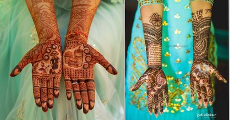 15+ New & Unique Elements We Spotted In Bridal Henna For The 2018-19 Brides!