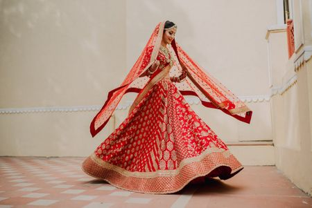 A Royal Jaipur Wedding With The Bride In A Dazzling Red Lehenga