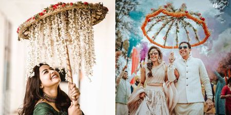 6 Types Of Floral Umbrellas We Spotted In Bridal Entries!