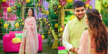 A Glamorous Jaipur Wedding With Stunning Decor And A Beautiful Velvet Lehenga