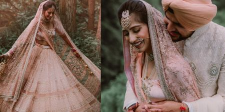 A Dreamy Wedding In The Wilderness With A Bride In A Blush Pink Lehenga