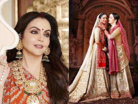 Here's How Nita Ambani Nailed The 'Mother Of The Bride' Look At The Grand Ambani Wedding!