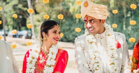 A Gorgeous South Indian Wedding In Mysore And A Bride In A Stunning Crimson Kanjeevaram