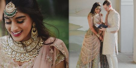 A Stunning Hyderabad Wedding With The Couple In The Most Gorgeous Coordinated Outfits