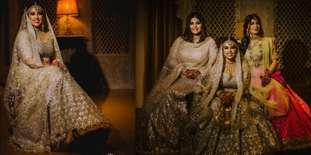 A Pinterest - Worthy Mumbai Wedding With A Bride In The Most Unique-Coloured Lehenga