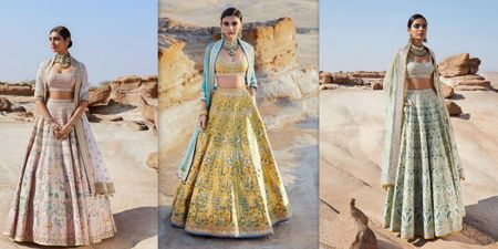 Anita Dongre Just Dropped A Limited Edition Handpainted Lehenga Collection That's Perfect For Your 2019 Mehendi!