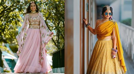 Alternate & Cool New Ways To Drape Your Dupatta For The Mehendi!