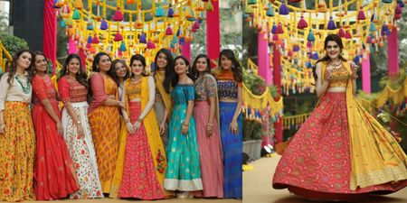 This Bride Designed The Outfits For Everyone At Her Mehendi!