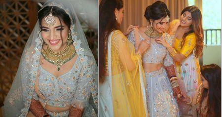 A Beachside Goa Wedding With A Bride In A Refreshing Pastel Blue Lehenga