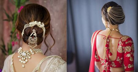 Not A Fan Of Floral Buns? Here Are A Few Bridal Bun Accessories For All New Brides- From Subtle to OTT
