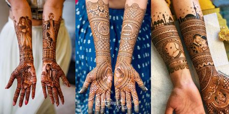 Portrait Mehndi Designs: The Best Ones We've Spotted On Real Brides!