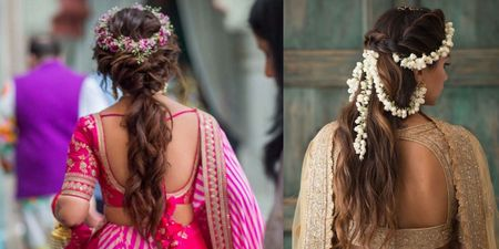 Non-Bridal Hairstyles For The Brides Who Want To Go Off Beat!