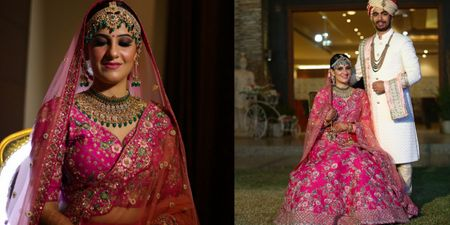 A Gorgeous Wedding With A Bride In A Classic Rani Pink Lehenga!