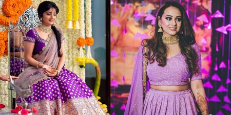 We Can't Stop Crushing Over These Brides Who Chose To Wear Shades Of Purple