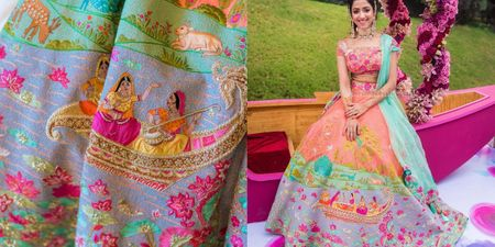 This Bride Designed Her Dream Mehendi Lehenga And It Was #OutfitGoals