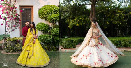 A Minimalist Delhi Wedding With Refreshingly New Outfits And An Old-School Love Story