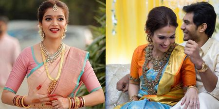 South Indian Brides Who Wore Kanjeevarams in Unique & Offbeat Colors!