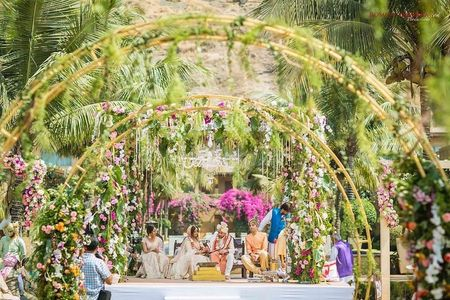 The Coolest Ideas We Spotted For An Open Mandap