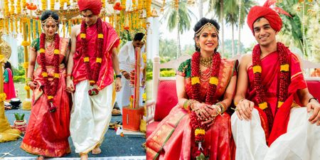 A Stunning Bangalore Wedding With A Bride In Gorgeous Kanjeevaram