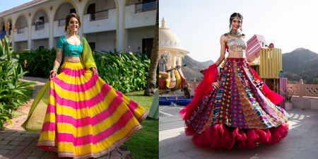The Coolest Boho-Chic Lehengas We Spotted On Real Brides!