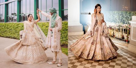 The Prettiest Nude-Coloured Lehengas We Spotted Off Late!