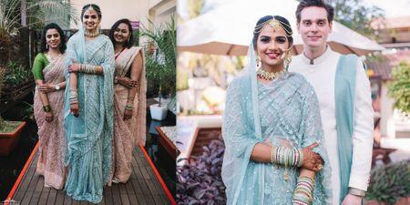 A Dazzling Goa Wedding With A Kickass Bridal Entry