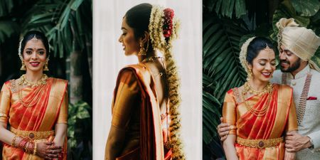 An Elegant Mumbai Wedding With Traditional Bridal Outfit & Stunning Floral Decor