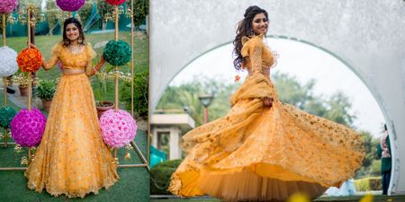 An Elegant Delhi Wedding With A Bride In A Unique Mutli-Coloured Lehenga