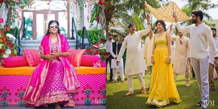 A Vivid South-Indian Wedding With A Bride In Absolutely Gorgeous Outfits