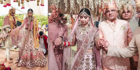 A Gorgeous Day Wedding With A Bride In A Beautiful Pastel Lehenga