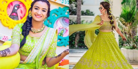 The Prettiest Lime Green Lehengas We Spotted On Brides!