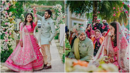 A Gorgeous Gurgaon Wedding With A Bride & Groom In Self-Designed Outfits!