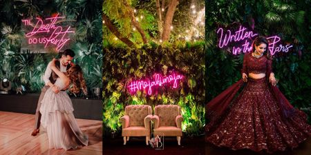 The Coolest LED Signages We Loved At Weddings!