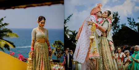 A Colourful Beach Wedding With A Hard To Ignore Bridal Lehenga
