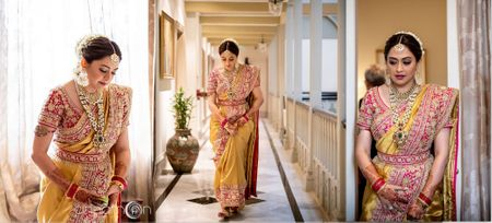 A Striking Wedding In Mumbai With A Bride In  Dazzling Gold!