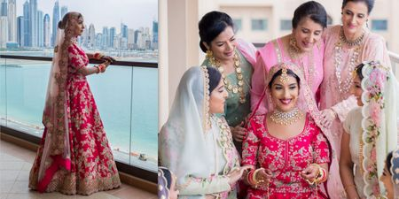 A Dubai Destination Wedding With Stunning Themes & A Bride In Pink