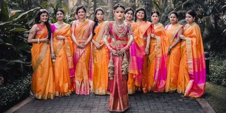 Bridesmaids Who Set #Goals By Coordinating Their Wedding Outfits!