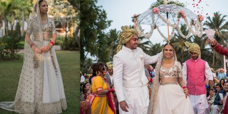 An Elegant Goa Wedding With The Bride In A Radiant White Lehenga